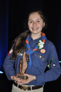 Une scoute de Laval récompensée pour son implication bénévole