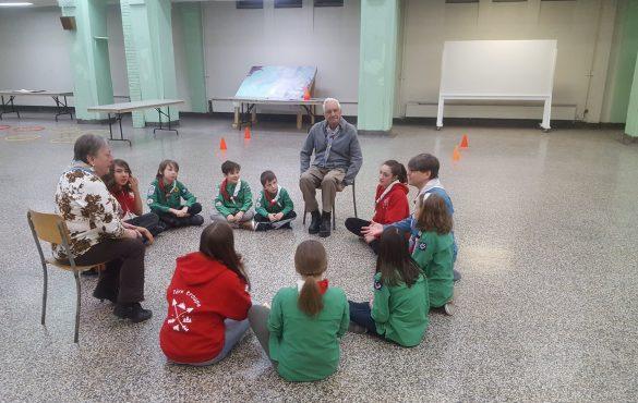 Activité du 1er groupe Saint-Jean-Berchmans avec l'Amicale des anciens scouts et guides de Montréal