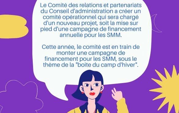 Recherche de bénévoles : Projet Boite du camp d'hiver
