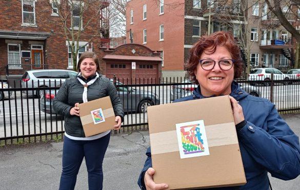 Les Scouts du Montréal métropolitain vous remercient d'avoir offert la Boite scoute! 💜