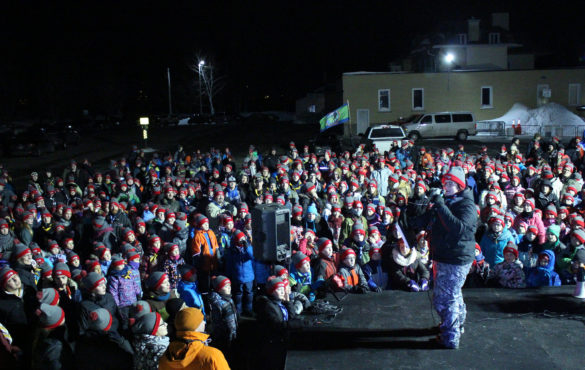 Tenue du camporee d'hiver «Être scout, c'est tempête» du district des Rivières