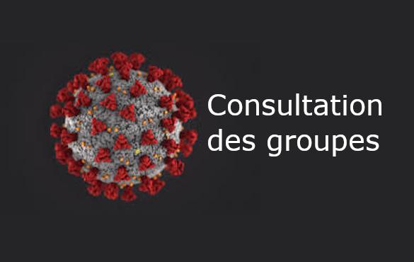 Consultation des groupes -COVID-19