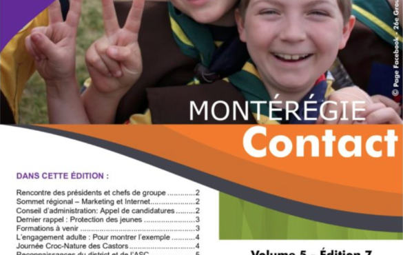 Montérégie Contact – Avril