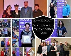 L'action bénévole de 44 membres reconnue par les Scouts du District de l'Érable!