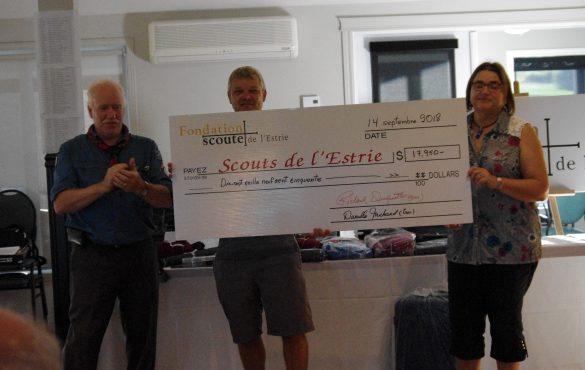 Plus de 17 000 $ amassés pour soutenir le scoutisme !