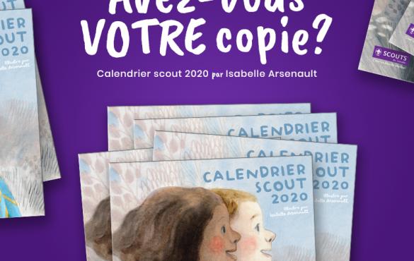 Le Calendrier 2020 des Scouts du Canada est en vente !