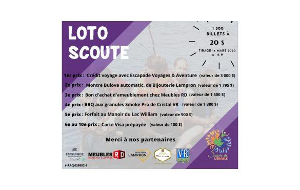 Loto scoute 2020 - Merci