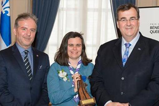 Marie-Michèle Fournier reçoit le Prix Jeune Bénévole – Claude Masson
