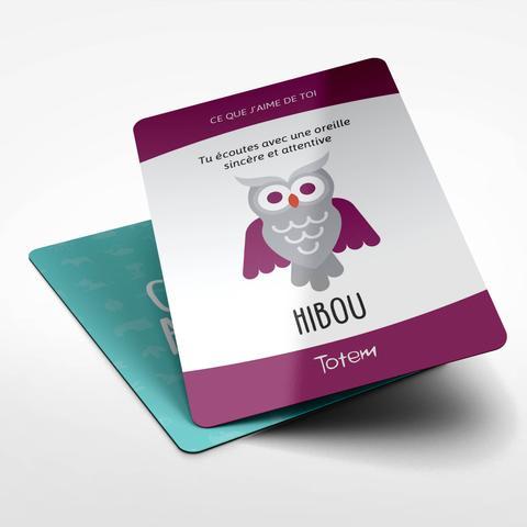 Jeu TOTEM : Carte HIBOU