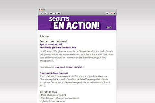 Scouts en Action : Avril 2018