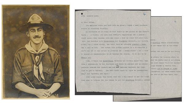 Lettre de Baden-Powell à Gidney